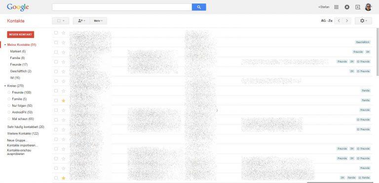 Google Kontakte