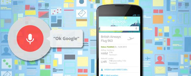 Google Now Sprachsteuerung mit Offline Spracherkennung in der Entwicklung