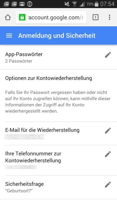 Google Mein Konto