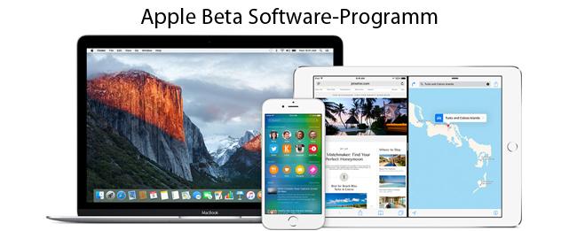 Apple Beta Programm für iOS 9 und WatchOS 2
