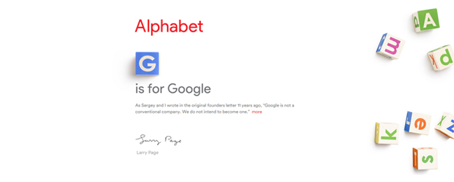 Alphabet, das neue Google