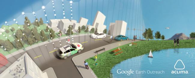 Google Maps mit Karte zur Luftverschmutzung