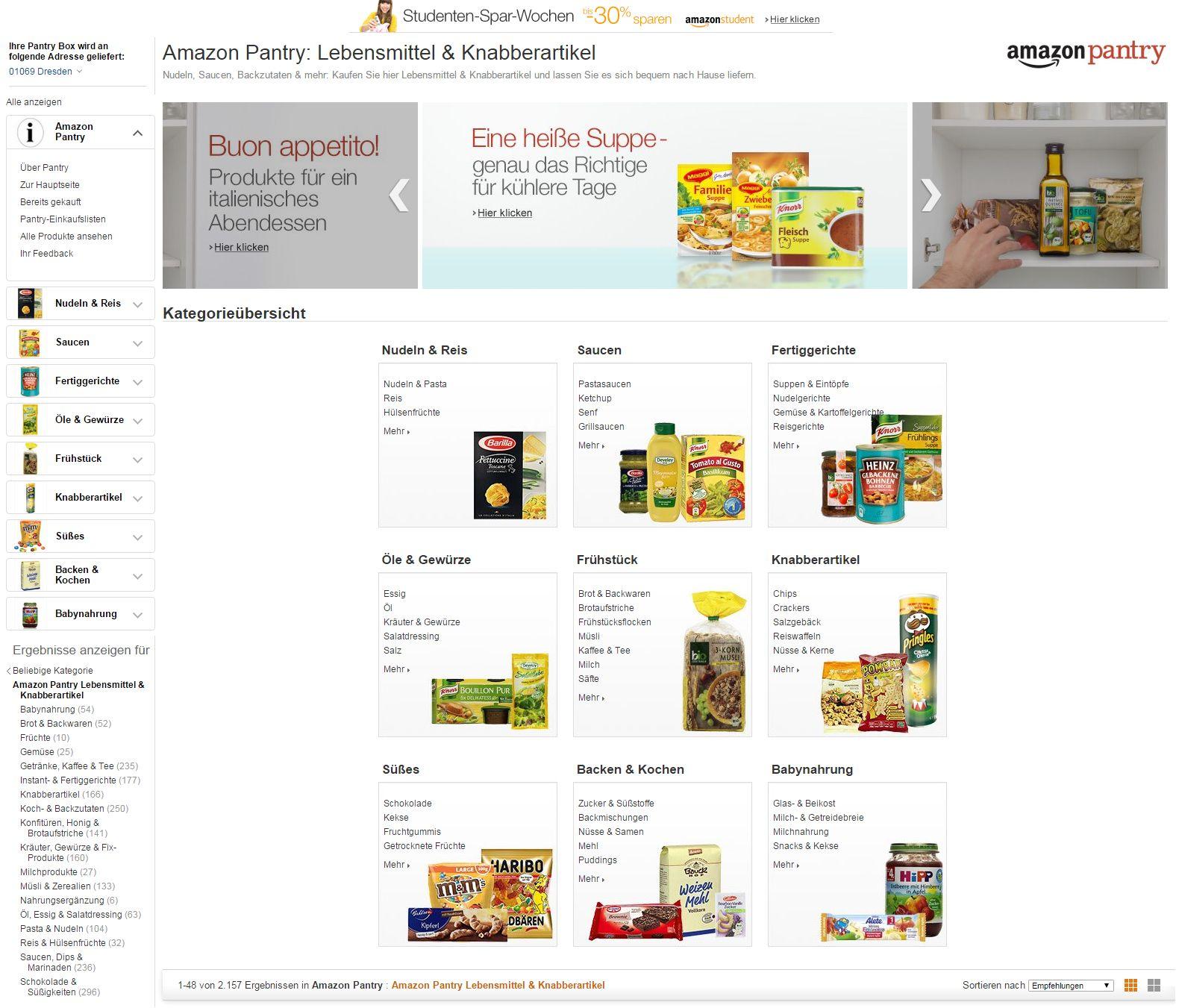 Amazon Pantry Startet In Deutschland