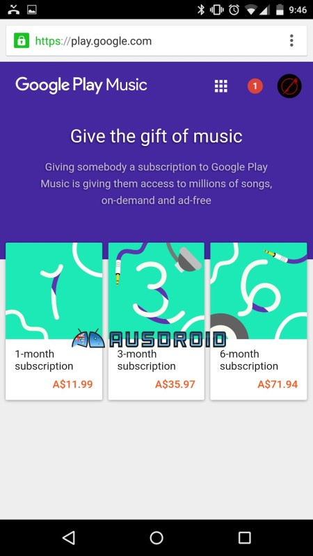 Google Play Music Abo verschenken