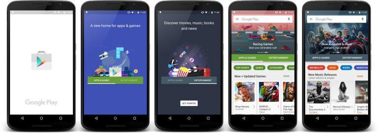 Google Pla Store 6.0 Re-Design