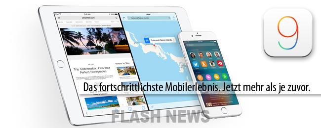 iOS 9 FLASH NEWS