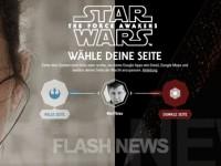 [FLASH NEWS] Google Star Wars: Entscheide dich für eine Seite der Macht!
