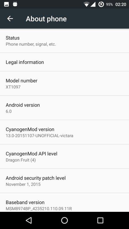 CM13 für das Motorola Moto X 2014