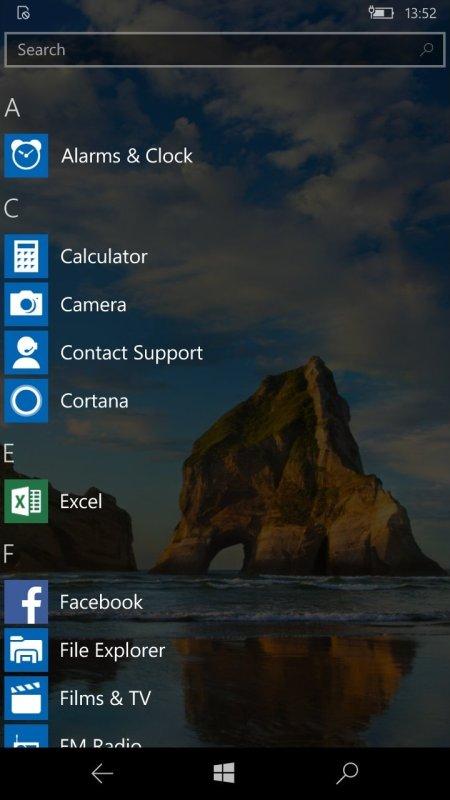 Windows 10 Mobile RTM