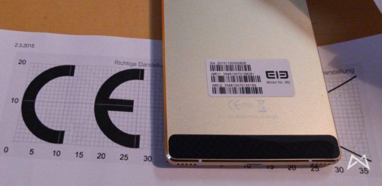 Elephone M2 CE-Zeichen