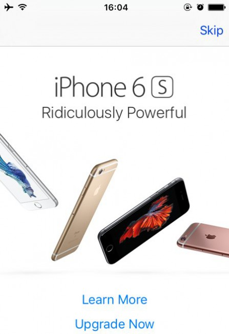 iPhone 6s Werbung im Apple App Store