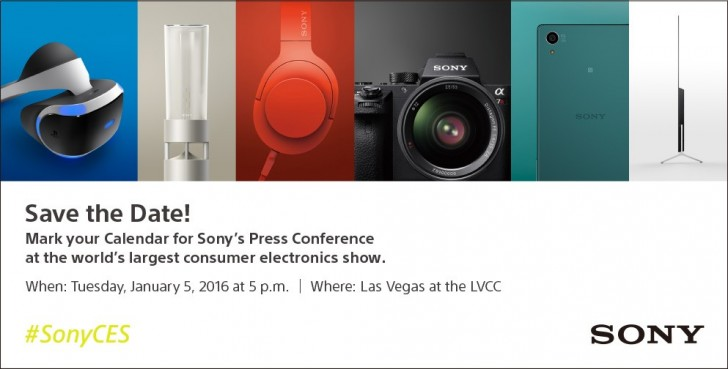 Sony CES 2016 Einladung