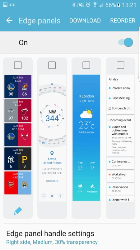 Samsung Galaxy S6 edge Marshmallow-Beta