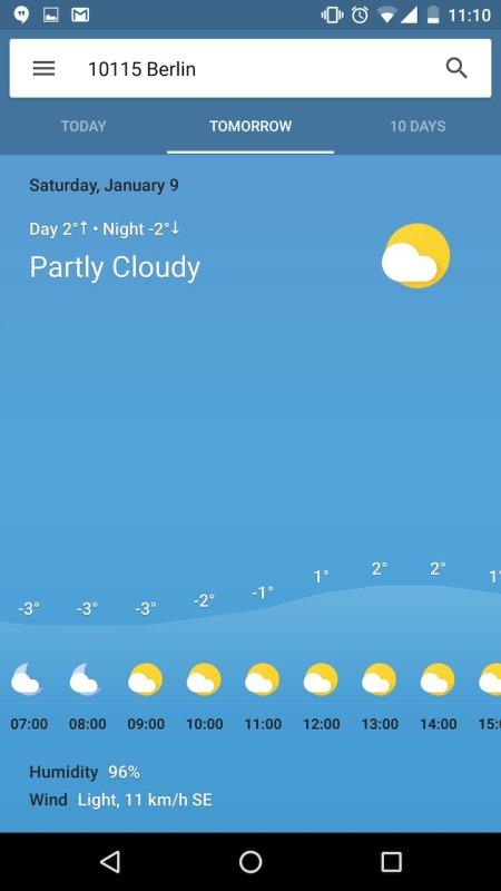 Google Now Wetter
