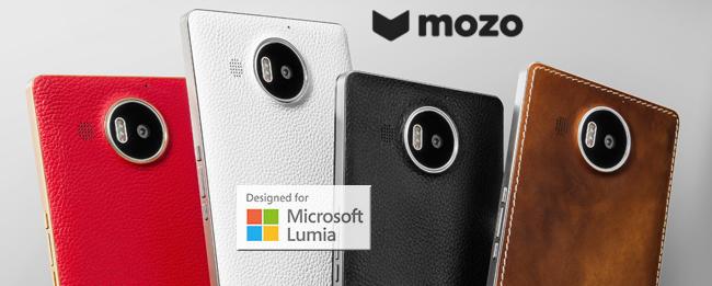 Mozo Leder-Rückseite für das Microsoft Lumia 950