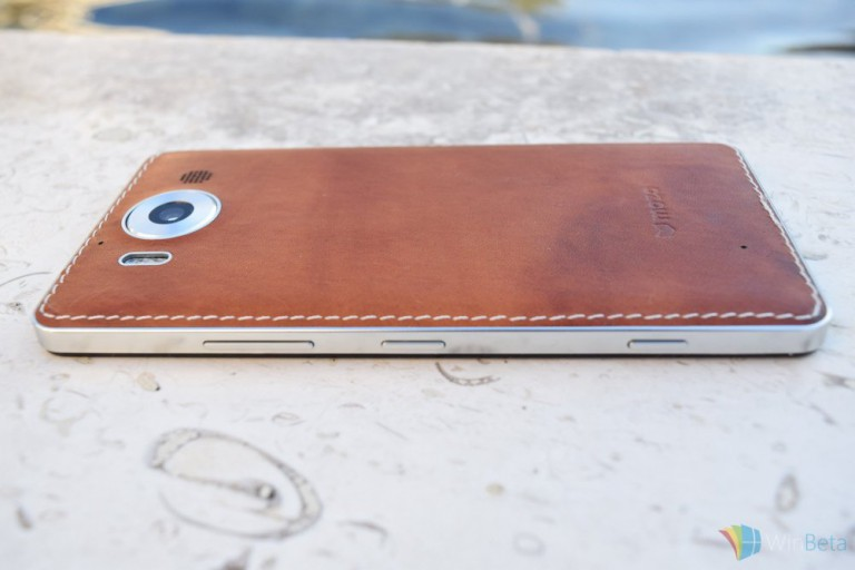 Mozo Leather Case für Microsoft Lumia 950