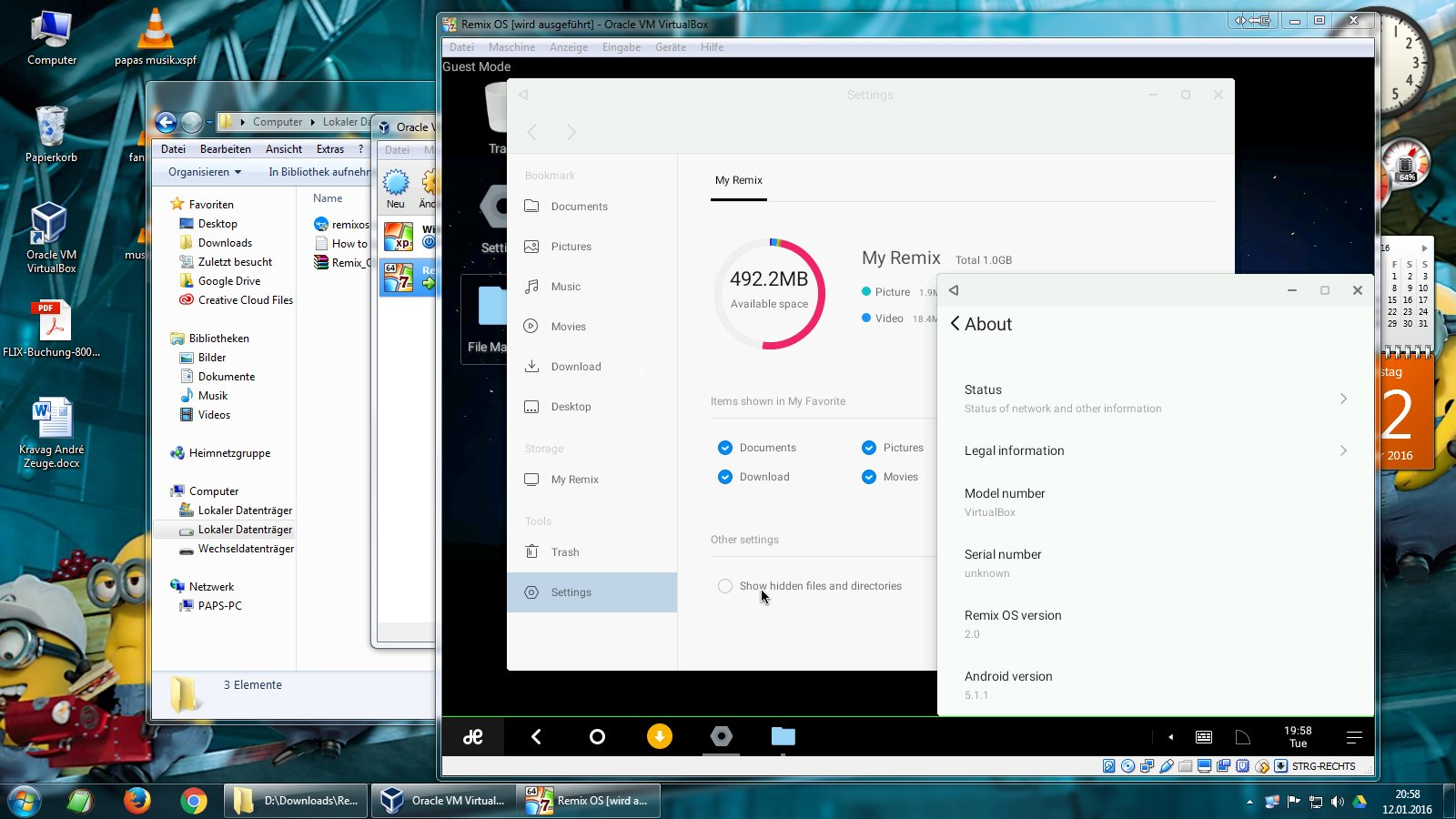 Remix OS: Installation und erste Eindrücke der Android Alternative