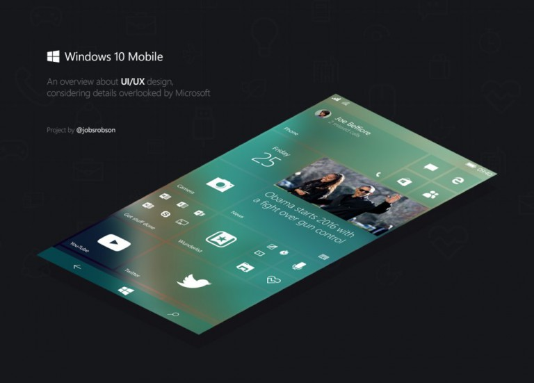 Windows 10 Mobile Konzept