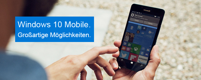 Windows 10 Mobile Insider Preview für das Microsoft Lumia 550