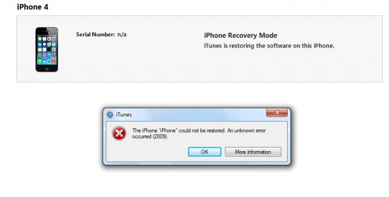 Error 53 in iTunes