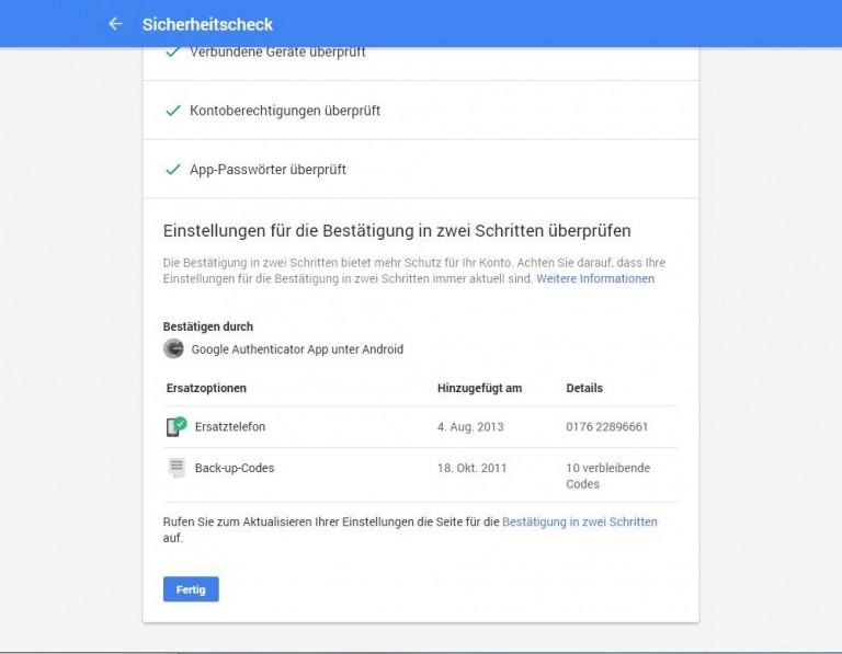 Google Drive Sicherheitscheck