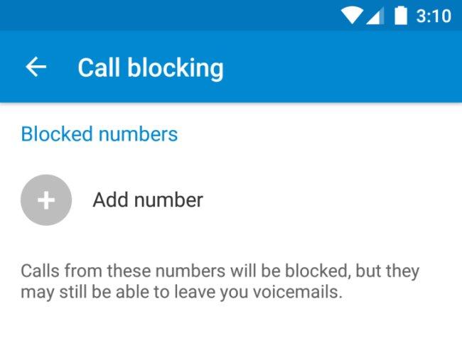 Android N Rufnummern blockieren