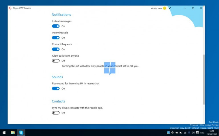 Skype for Windows 10 Preview