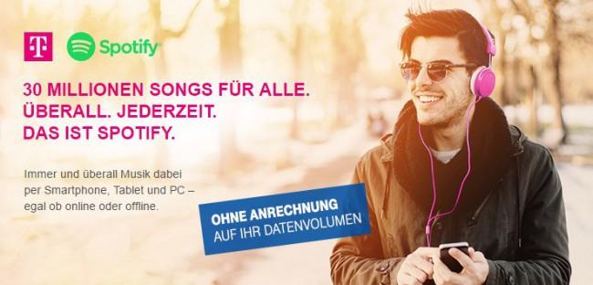 Spotify Option der Deutschen Telekom