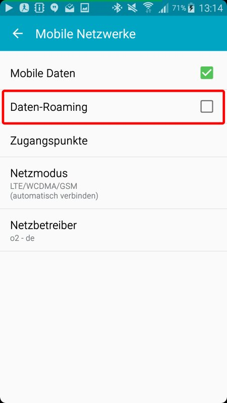 Daten-Roaming im EU-Ausland