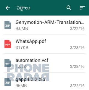 WhatsApp ZIP-Archiv zum Versenden