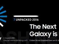 Live den Samsung Galaxy Note 7 Unpacked Event in 360 Grad bei uns sehen!