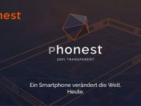 Phonest verarscht Presse mit transparentem Smartphone