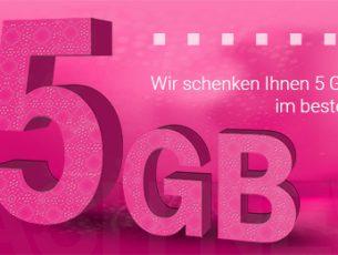 Telekom Deutschland verschenkt 5 GB LTE Datenvolumen