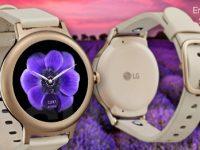 So sieht also die LG Watch Style in Silber und Roségold aus