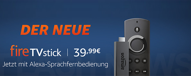 amazon fire tv stick 2 nun auch in deutschland mit alexa. Black Bedroom Furniture Sets. Home Design Ideas