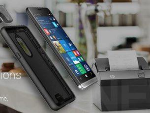 Das HP Elite x3 macht auf Moto Mod mit Scanner-Modul
