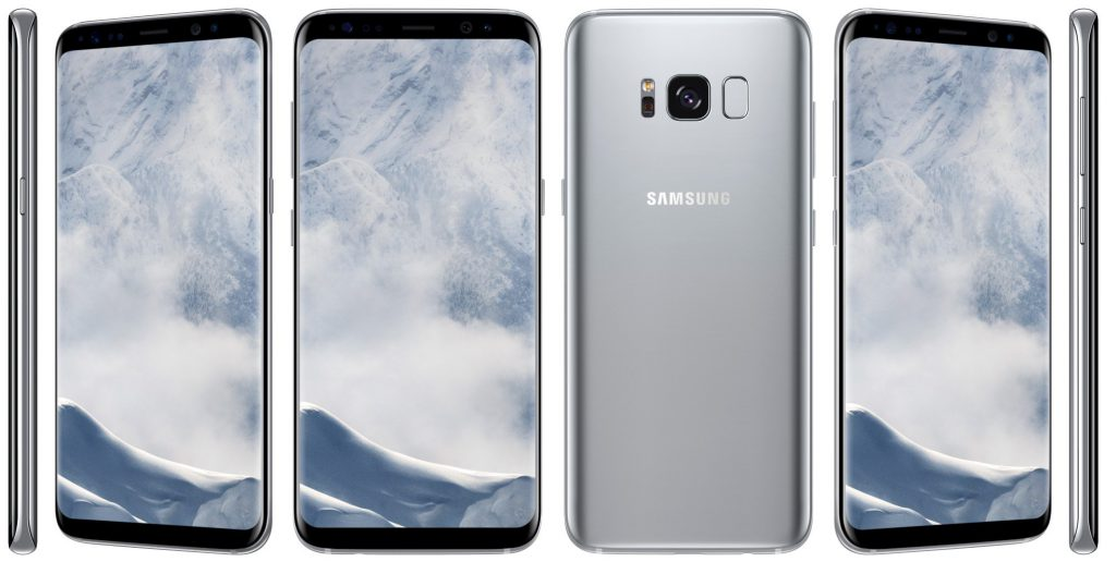 Samsung Galaxy S8 in Silber