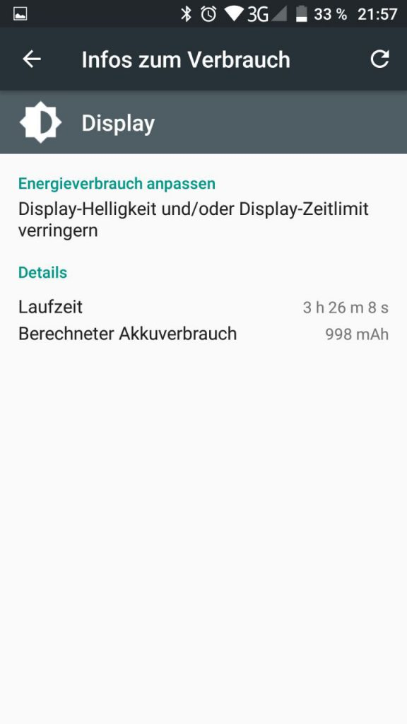 Umi Z ScreenOn nach dem Update