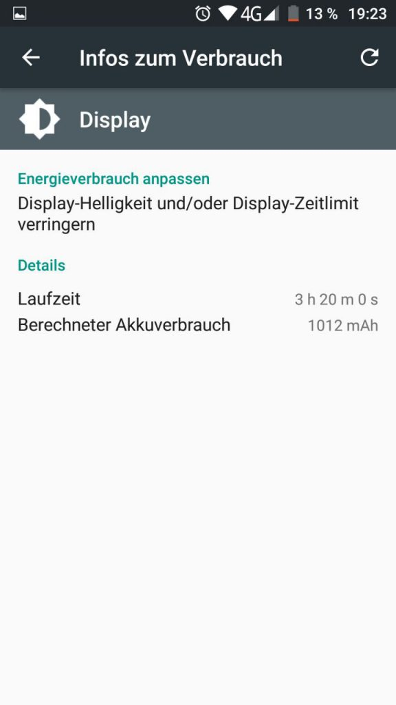 Umi Z ScreenOn vor dem Update