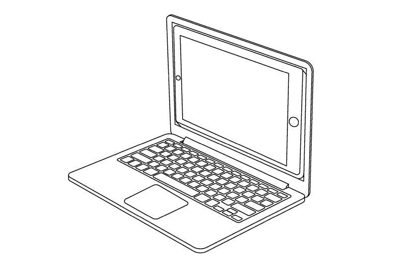 Eine iPad / Laptop Kombination