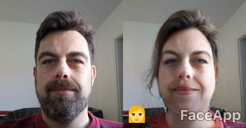 Faceapp Geschlechtsumwandlung