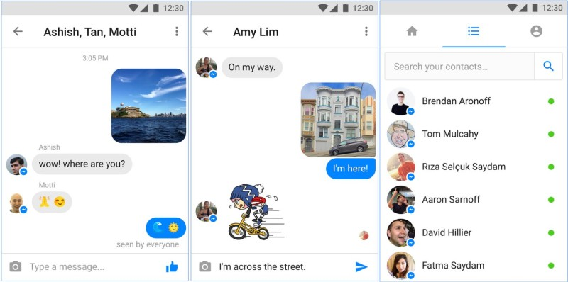 Facebook Messenger Lite Chat