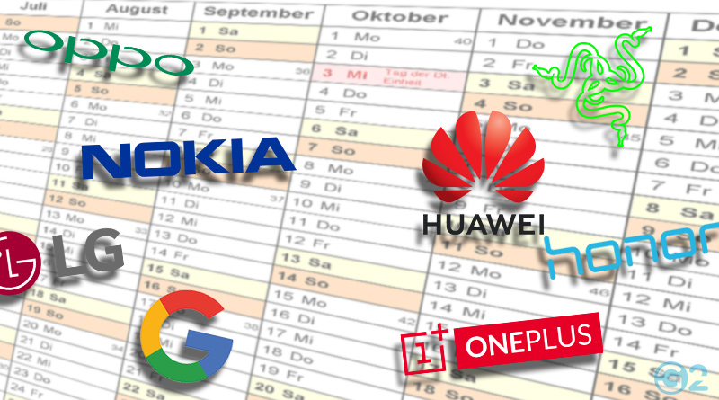 Android-Smartphones im Oktober 2018