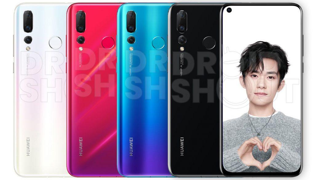 Huawei Nova 4 in allen vier Farben