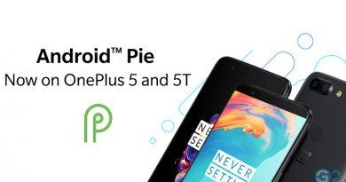 OnePlus 5 und 5T Pie-Update