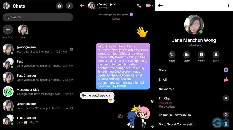 Facebook-Messenger im Dark Mode