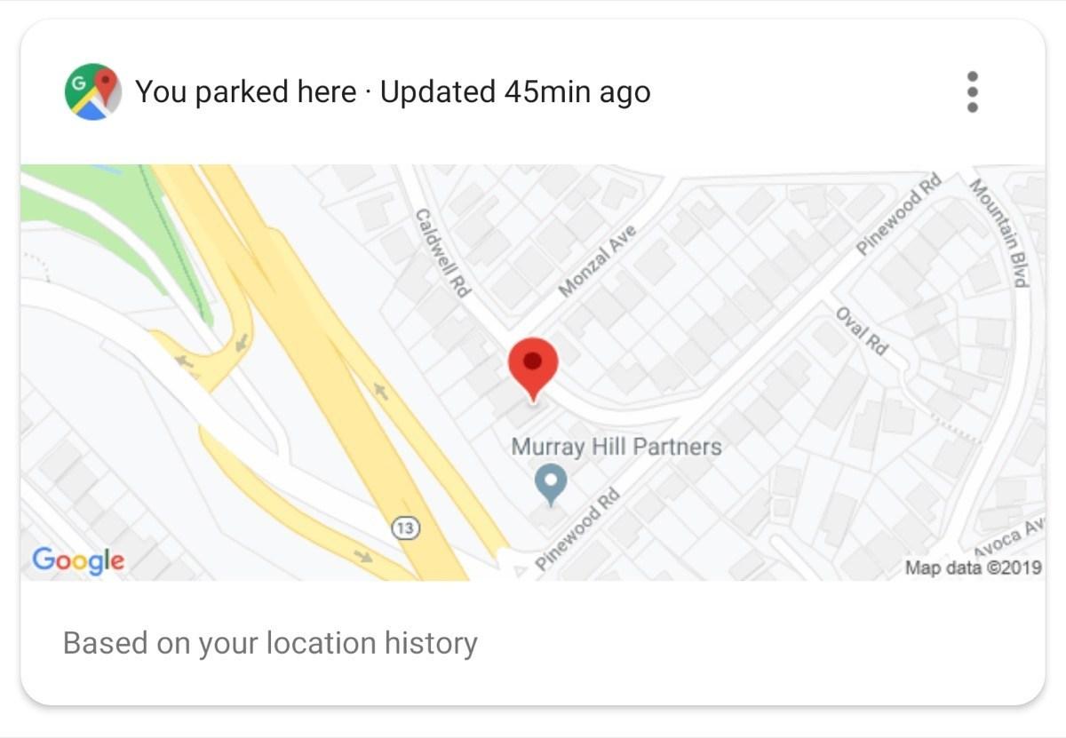 Google Assistant Parkhilfe