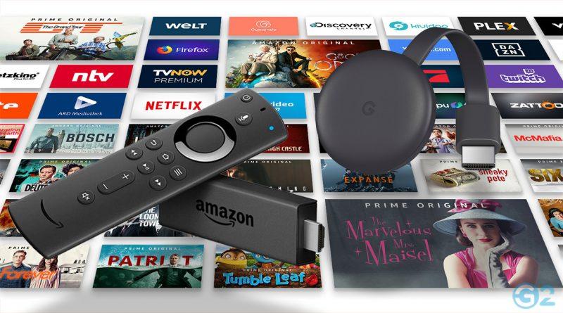 Amazon und Google Streaming-Geräte