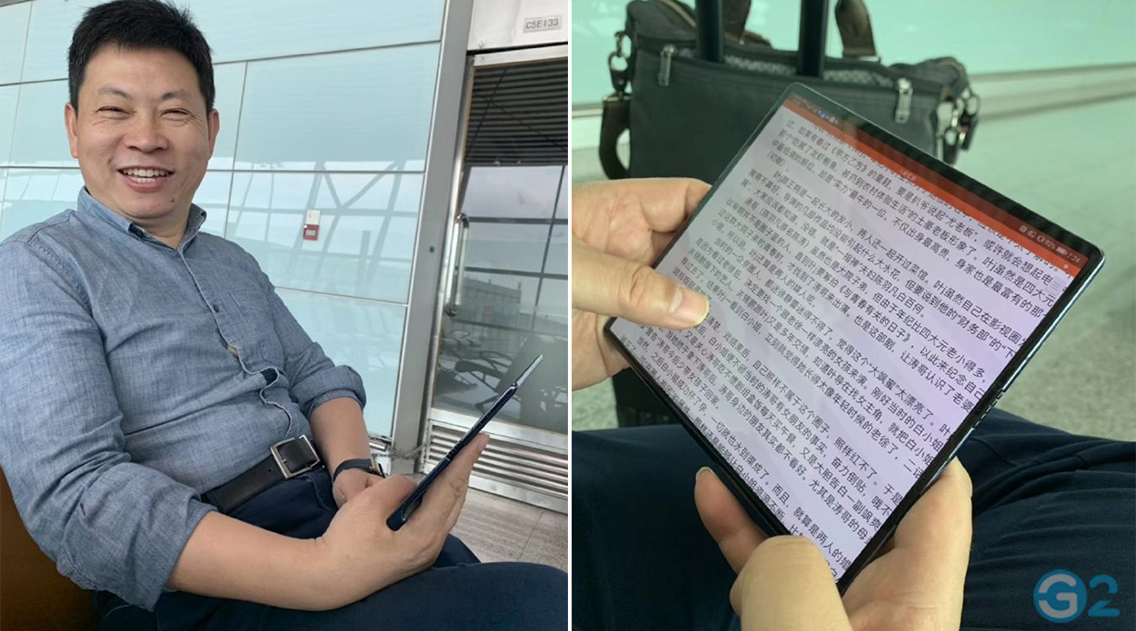 Richard Yu mit dem Huawei Mate X