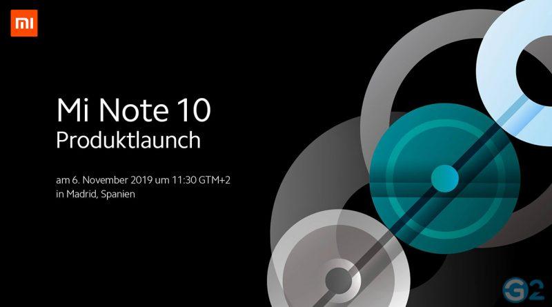 Xiaomi Mi Note 10 Europa-Event